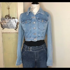 Free People cropped denim jacket